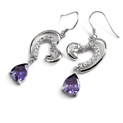 24681-sterling silver with  rhinestoe earring