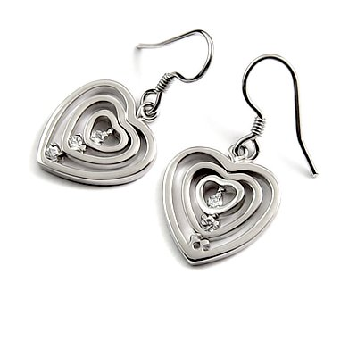 24688-sterling silver platium plated with rhinestoe earring