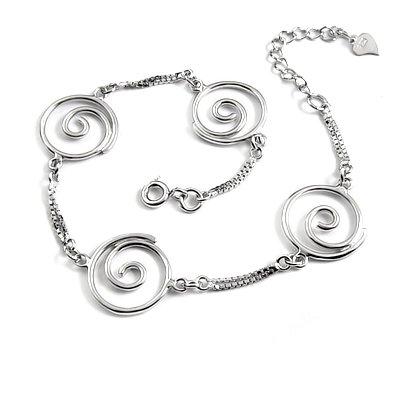 24699-sterling silver platium plated bracelet