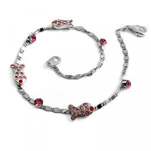 24706-sterling silver platium plated with rhinestoe bracelet