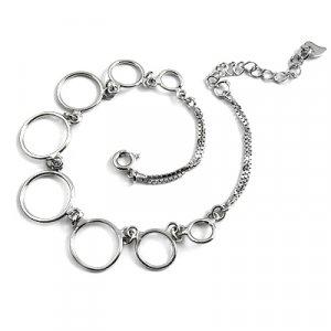 24710- sterling silver platium plated bracelet