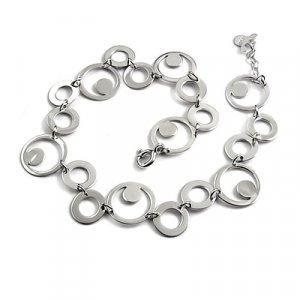 24715- sterling silver platium plated bracelet
