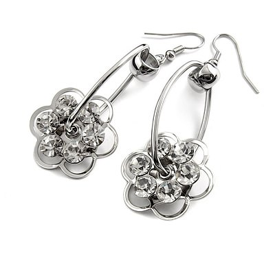 24738- alloy with rhinestoe earring