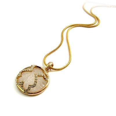 24772- alloy with rhinestoe necklace