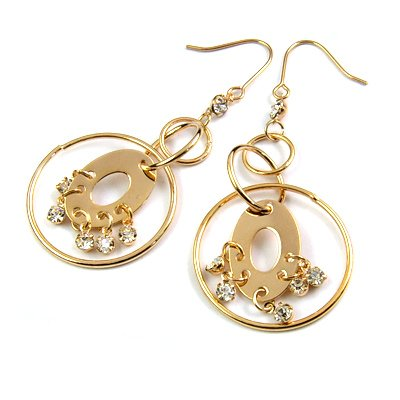 25187-alloy with stone earring