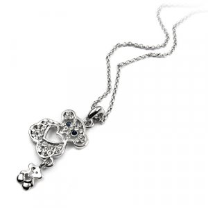 25192-alloy with stone necklace