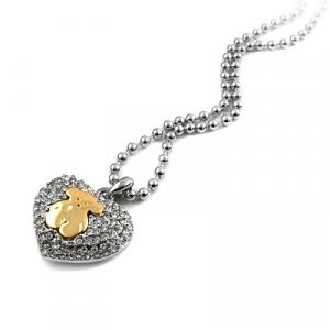 25196-alloy with stone necklace