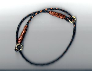 Braided Leather Show Collar