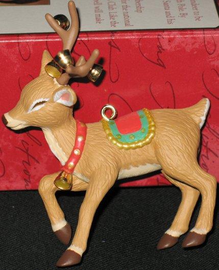 Ringing Reindeer ornament
