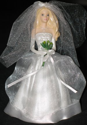 Blushing Bride Barbie ornament