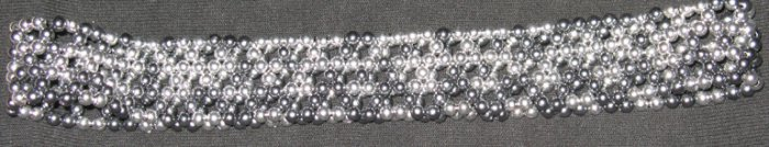 Silver Beaded Stretchable Headband