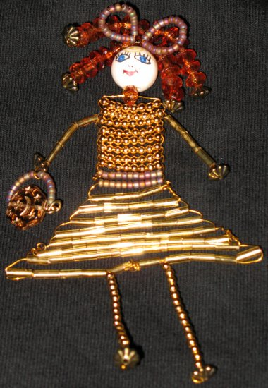 Little Miss Celestial Jane beaded woman necklace