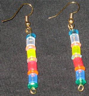 Summer Hawaiian Sparkle Dangle Earrings