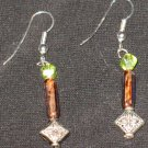 Lime Sand Genie Dangle Earrings
