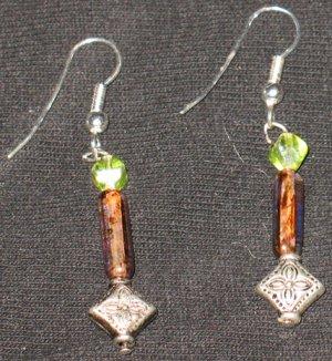 Lime Sand Genie Dangle Earrings