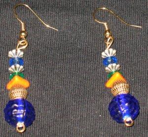 Colorful Pinecone Dangle Earrings