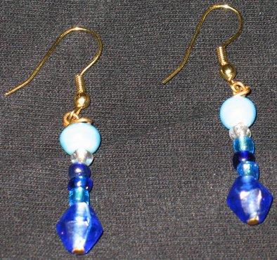 Blue Wish Genie dangle earrings
