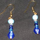 Blue Wish Genie dangle earrings