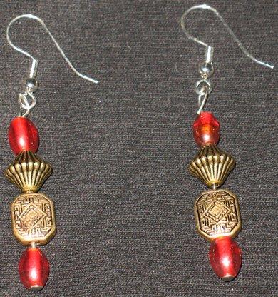 Aztec style yr 2012 dangle earrings