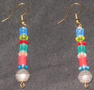 Rainbow Soul Disco dangle earrings