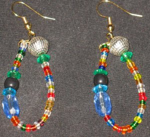 Disco Midnight Passion dangling hoop earrings