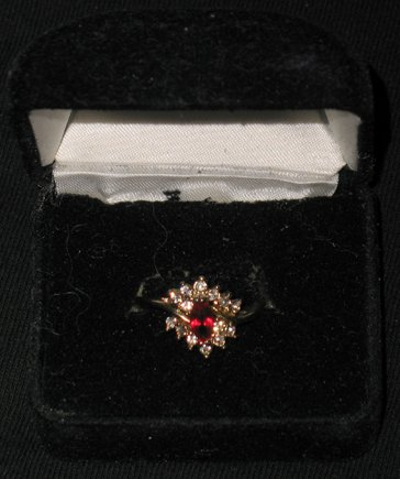 Ruby encrusted with Diamonds Gold Ring