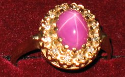Family heirloom: purple stone 14kt european gold ring