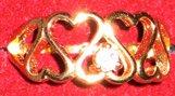 Beautiful diamond hearts ring costume jewelry