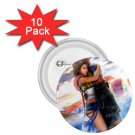 Yuna and Tidus hug--ffx/ff10-1.75 inch 10 Buttons