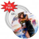 Yuna and Tidus hug--ffx/ff10-2.25 inch 10 Buttons