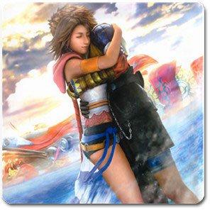 Yuna and Tidus hug--ffx/ff10-Square Magnet