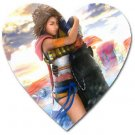 Yuna and Tidus hug--ffx/ff10-Heart shaped magnet