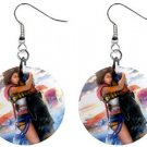 Yuna and Tidus hug--ffx/ff10--1 inch Button Earrings
