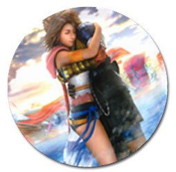 Yuna and Tidus--ffx/ff10-- 10 Golf Ball Markers