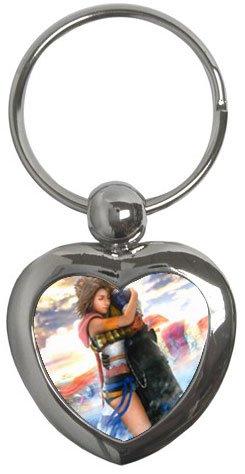 Yuna and Tidus--ffx/ff10--heart shaped key chain