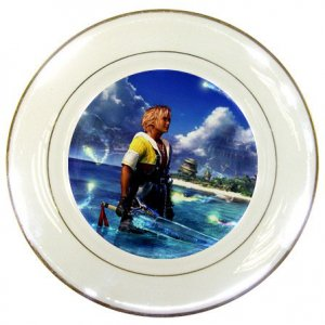 Warrior Tidus ffx/ff10--Porcelain Plate