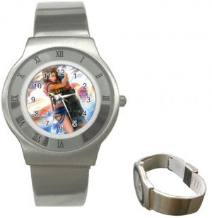 Yuna and Tidus--ffx/ff10--Stainless Steel Watch