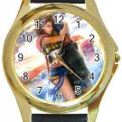 Yuna and Tidus--ffx/ff10--Round Gold Metal Watch