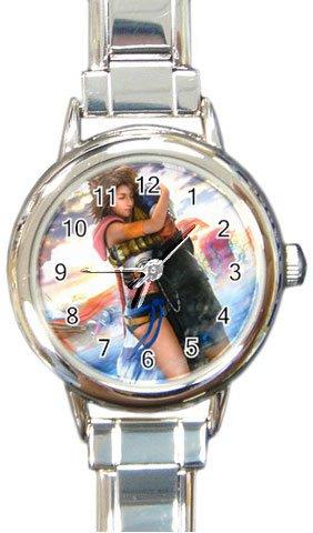 Yuna and Tidus--ffx/ff10--Round Italian Charm Watch