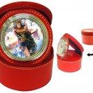 Yuna and Tidus--ffx/ff10-red Jewelry Case Clock