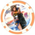 Yuna and Tidus--ffx/ff10--orange Poker Chip Card Guard