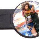Yuna and Tidus--ffx/ff10-round USB Flash Drive 2 GB
