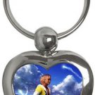 Warrior Tidus ffx/ff10--heart shaped keychain