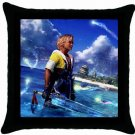 Warrior Tidus ffx/ff10--black Throw Pillow Case