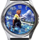 Warrior Tidus ffx/ff10--Round Metal Watch