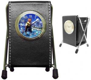Warrior Tidus --ffx/ff10--black Pen Holder Desk Clock