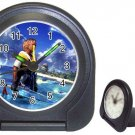 Warrior Tidus--ffx/ff10- black Travel Alarm Clock