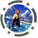 Warrior Tidus--ffx/ff10--black Poker Chip Card Guard