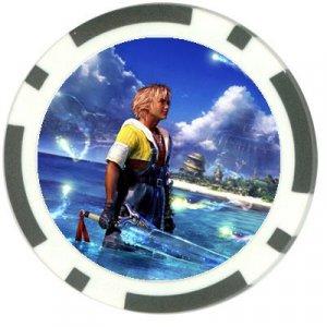 Warrior Tidus--ffx/ff10--black Poker Chip Card Guard