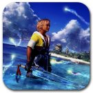Warrior Tidus--ffx/ff10--square rubber coaster